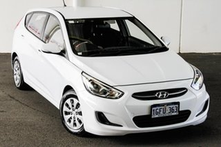 2016 Hyundai Accent RB4 MY16 Active White 6 Speed CVT Auto Sequential Hatchback.