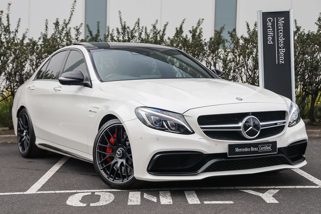 Certified Pre-Owned Mercedes-Benz C-Class W205 807MY C63 AMG SPEEDSHIFT MCT S Mulgrave, 2016 Mercedes-Benz C-Class W205 807MY C63 AMG SPEEDSHIFT MCT S Diamond White Bright 7 Speed