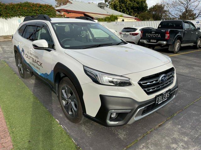 Demo Subaru Outback B7A MY21 AWD CVT Glenelg, 2021 Subaru Outback B7A MY21 AWD CVT Crystal White 8 Speed Constant Variable Wagon