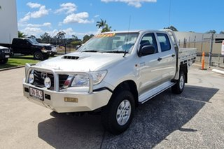 2013 Toyota Hilux KUN26R MY12 SR Double Cab Silver 5 Speed Manual Cab Chassis