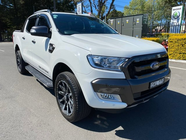 Used Ford Ranger PX MkII Wildtrak Double Cab Botany, 2016 Ford Ranger PX MkII Wildtrak Double Cab White 6 Speed Sports Automatic Utility