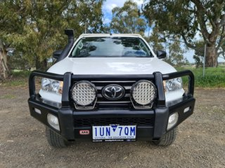 2019 Toyota Hilux GUN126R SR White 6 Speed Sports Automatic Cab Chassis