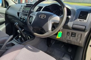 2013 Toyota Hilux KUN26R MY12 SR Double Cab Silver 5 Speed Manual Cab Chassis.