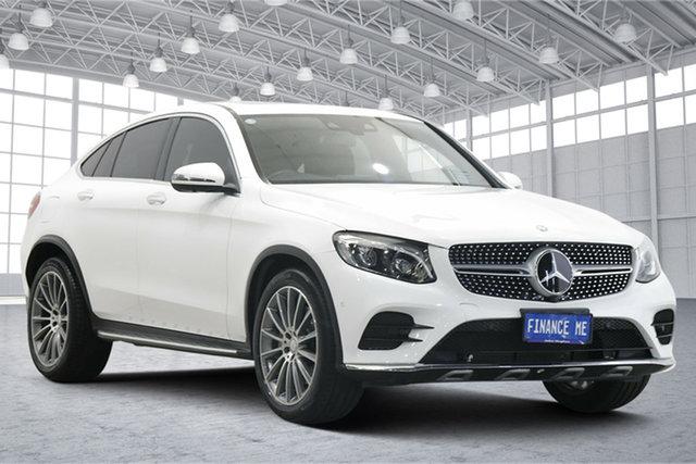 Used Mercedes-Benz GLC-Class C253 GLC250 Coupe 9G-Tronic 4MATIC Victoria Park, 2017 Mercedes-Benz GLC-Class C253 GLC250 Coupe 9G-Tronic 4MATIC White 9 Speed Sports Automatic Wagon