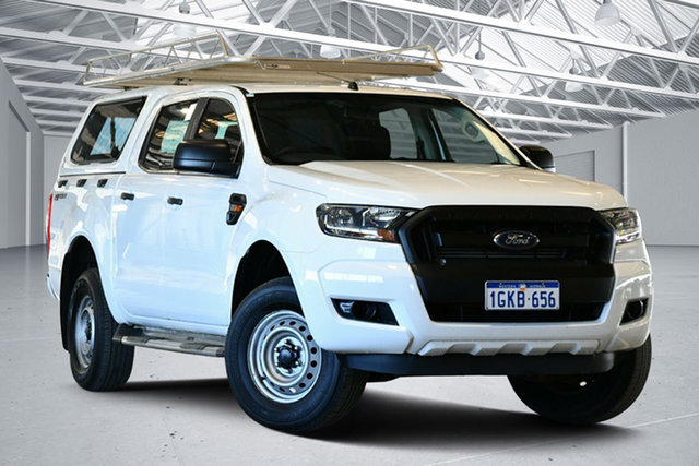Used Ford Ranger PX MkII MY17 XL 2.2 Hi-Rider (4x2) Perth Airport, 2017 Ford Ranger PX MkII MY17 XL 2.2 Hi-Rider (4x2) Cool White 6 Speed Automatic Crew Cab Pickup
