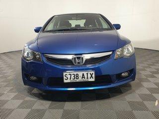 2010 Honda Civic 8th Gen MY10 VTi Blue 5 Speed Manual Sedan.