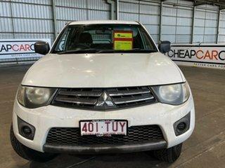 2009 Mitsubishi Triton ML MY09 GLX Double Cab 4x2 White 4 Speed Automatic Utility.