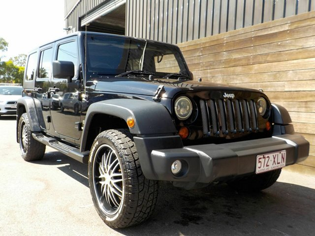 Used Jeep Wrangler JK MY2010 Unlimited Sport Labrador, 2010 Jeep Wrangler JK MY2010 Unlimited Sport Black 4 Speed Automatic Softtop