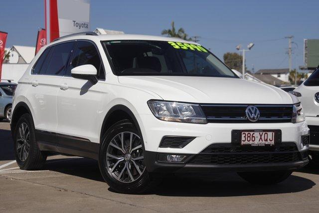 Pre-Owned Volkswagen Tiguan 5N MY18 132TSI DSG 4MOTION Comfortline Albion, 2017 Volkswagen Tiguan 5N MY18 132TSI DSG 4MOTION Comfortline White 7 Speed