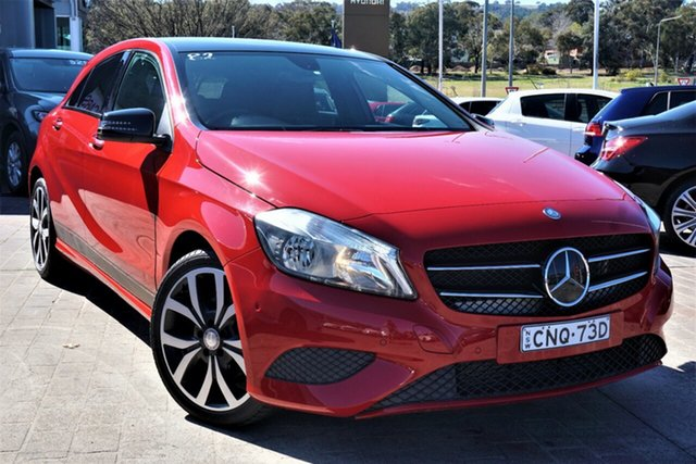 Used Mercedes-Benz A-Class W176 805+055MY A180 D-CT Phillip, 2015 Mercedes-Benz A-Class W176 805+055MY A180 D-CT Red 7 Speed Sports Automatic Dual Clutch