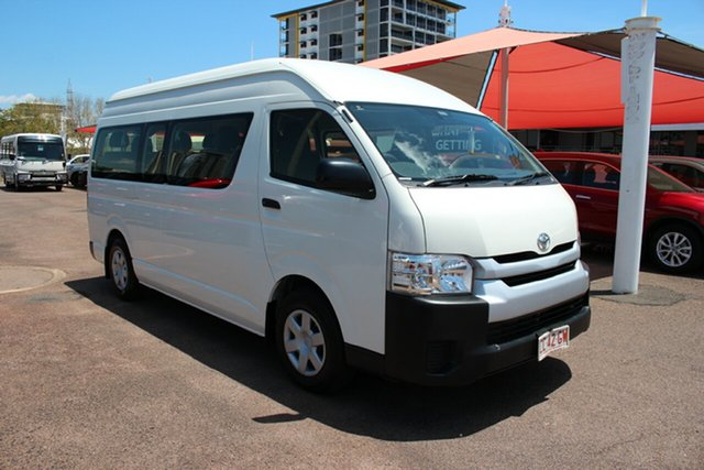 Pre-Owned Toyota HiAce TRH223R Commuter High Roof Super LWB Darwin, 2017 Toyota HiAce TRH223R Commuter High Roof Super LWB French Vanilla 6 Speed Automatic Bus