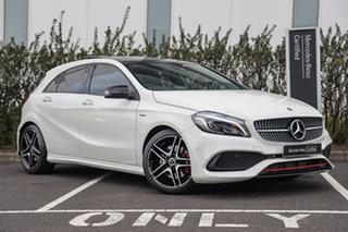 2018 Mercedes-Benz A-Class W176 808+058MY A250 D-CT 4MATIC Sport Cirrus White 7 Speed.