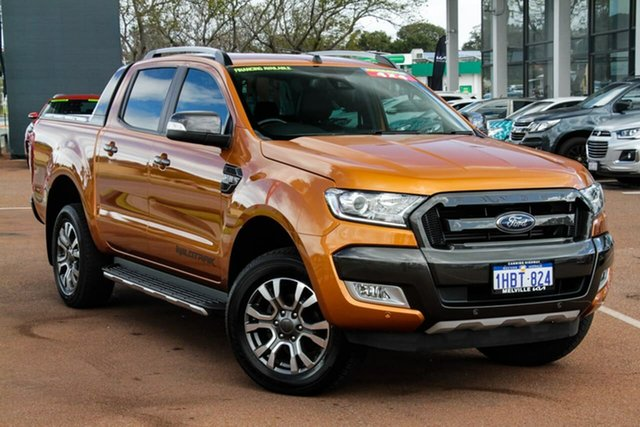 Used Ford Ranger PX MkII 2018.00MY Wildtrak Double Cab Attadale, 2018 Ford Ranger PX MkII 2018.00MY Wildtrak Double Cab Orange 6 Speed Sports Automatic Utility