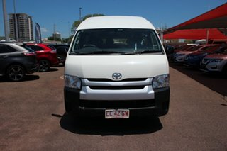 2017 Toyota HiAce TRH223R Commuter High Roof Super LWB French Vanilla 6 Speed Automatic.