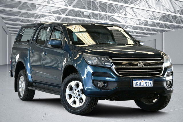 Used Holden Colorado RG MY17 LT Pickup Crew Cab 4x2 Perth Airport, 2017 Holden Colorado RG MY17 LT Pickup Crew Cab 4x2 Blue 6 Speed Sports Automatic Utility