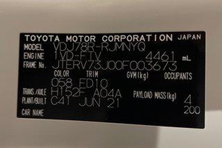 2021 Toyota Landcruiser VDJ78R GXL Troopcarrier French Vanilla 5 speed Manual Wagon