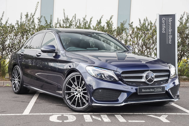 Certified Pre-Owned Mercedes-Benz C-Class W205 807+057MY C250 9G-Tronic Mulgrave, 2017 Mercedes-Benz C-Class W205 807+057MY C250 9G-Tronic Cavansite Blue 9 Speed Sports Automatic