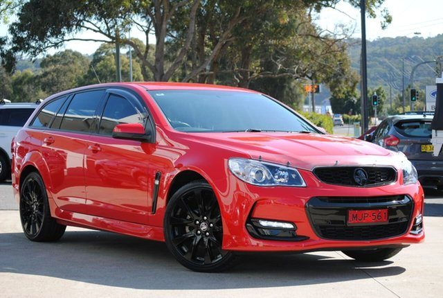Used Holden Commodore VF II MY16 SV6 Sportwagon West Gosford, 2015 Holden Commodore VF II MY16 SV6 Sportwagon Red 6 Speed Sports Automatic Wagon