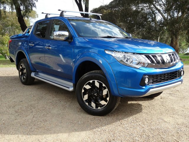 Used Mitsubishi Triton MQ MY18 Exceed Double Cab Morphett Vale, 2018 Mitsubishi Triton MQ MY18 Exceed Double Cab Blue 5 Speed Sports Automatic Utility