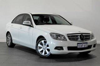 2008 Mercedes-Benz C-Class W204 C200 Kompressor Classic White 5 Speed Sports Automatic Wagon.
