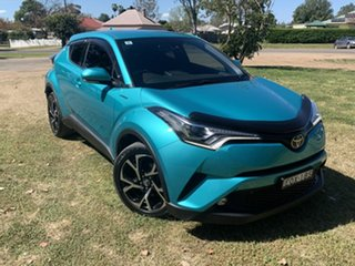 2017 Toyota C-HR NGX10R Koba S-CVT 2WD Electric Teal 7 Speed Constant Variable Wagon.