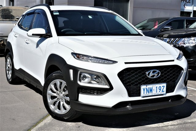 Used Hyundai Kona OS.2 MY19 Go 2WD Phillip, 2019 Hyundai Kona OS.2 MY19 Go 2WD Chalk White 6 Speed Sports Automatic Wagon