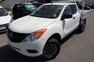 2012 Mazda BT-50 UP0YF1 XT Freestyle 4x2 Hi-Rider White 6 Speed Manual Cab Chassis.