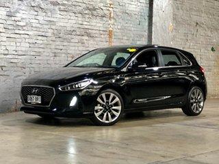 2017 Hyundai i30 PD MY18 SR D-CT Premium Black 7 Speed Sports Automatic Dual Clutch Hatchback.