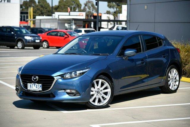 Used Mazda 3 BN5438 SP25 SKYACTIV-Drive Pakenham, 2018 Mazda 3 BN5438 SP25 SKYACTIV-Drive Blue 6 Speed Sports Automatic Hatchback