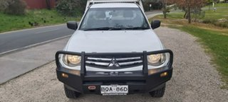 2011 Mitsubishi Triton MN MY11 GLX 4x2 White 5 Speed Manual Cab Chassis.