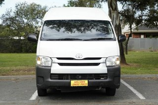 2015 Toyota HiAce KDH223R Commuter High Roof Super LWB White 5 Speed Manual Bus.