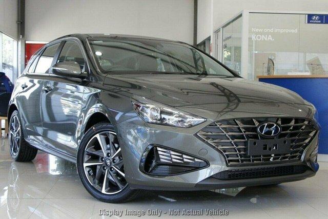 New Hyundai i30 PD.V4 MY21 Active Castle Hill, 2021 Hyundai i30 PD.V4 MY21 Active Amazon Gray 6 Speed Sports Automatic Hatchback