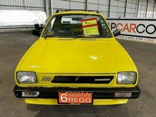 1985 Suzuki Mighty Boy Yellow 4 Speed Manual Utility.