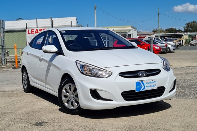 Used Hyundai Accent RB3 MY16 Active Morayfield, 2016 Hyundai Accent RB3 MY16 Active White 6 Speed Manual Sedan