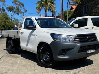 2020 Toyota Hilux TGN121R Workmate 4x2 Glacier White 5 Speed Manual Cab Chassis.