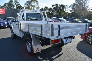 2014 Mitsubishi Triton MN MY15 GL 4x2 White 5 Speed Manual Cab Chassis.