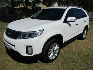 2014 Kia Sorento XM MY14 Si 4WD White 6 Speed Sports Automatic Wagon.