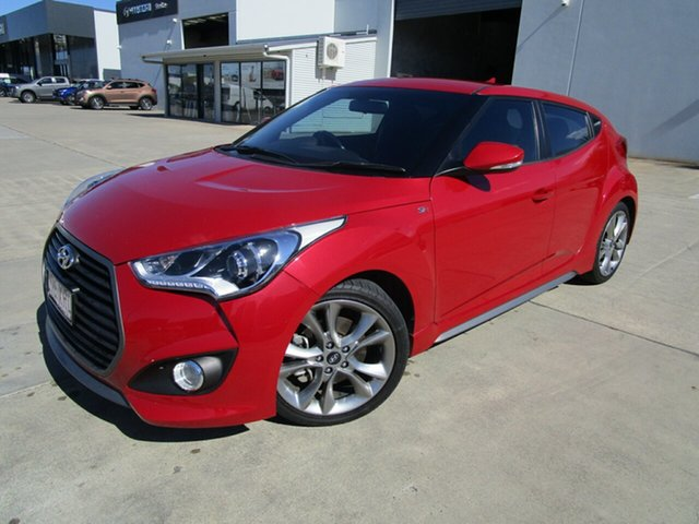 Used Hyundai Veloster FS5 Series II SR Coupe D-CT Turbo Caboolture, 2017 Hyundai Veloster FS5 Series II SR Coupe D-CT Turbo Red 7 Speed Sports Automatic Dual Clutch