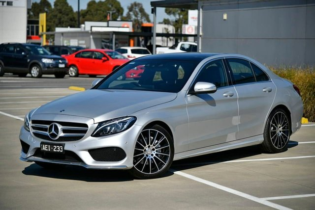 Used Mercedes-Benz C-Class W205 806MY C200 7G-Tronic + Pakenham, 2015 Mercedes-Benz C-Class W205 806MY C200 7G-Tronic + Silver 7 Speed Sports Automatic Sedan