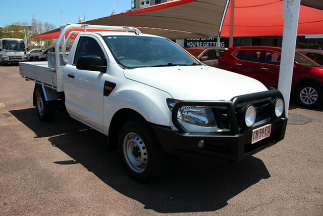 Pre-Owned Ford Ranger PX XL Darwin, 2014 Ford Ranger PX XL White 6 Speed Manual Cab Chassis