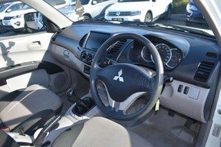 2014 Mitsubishi Triton MN MY15 GL 4x2 White 5 Speed Manual Cab Chassis