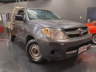 2008 Toyota Hilux TGN16R MY08 Workmate 4x2 Metallic Grey 5 Speed Manual Utility.