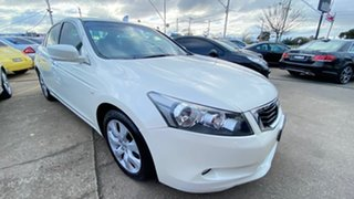 2009 Honda Accord 8th Gen VTi-L White 5 Speed Sports Automatic Sedan.