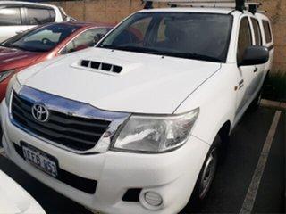 2012 Toyota Hilux KUN16R MY12 SR Glacier White 5 Speed Manual Dual Cab Pick-up