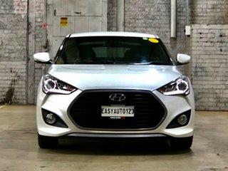 2015 Hyundai Veloster FS4 Series II SR Coupe Turbo White 6 Speed Manual Hatchback.