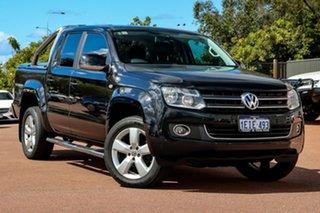 2012 Volkswagen Amarok 2H MY13 TDI420 4Motion Perm Highline Black 8 Speed Automatic Utility.