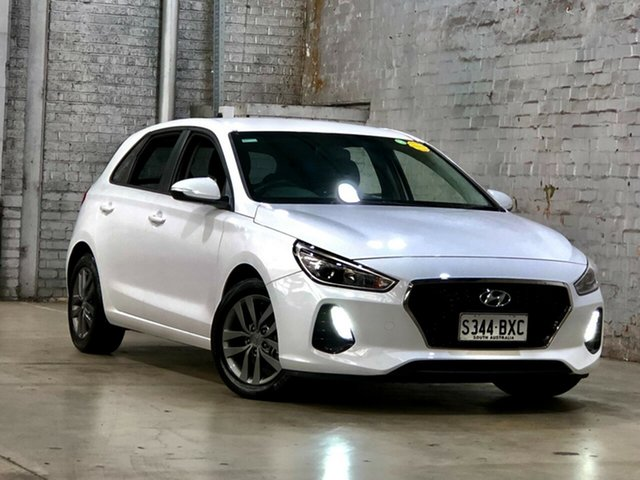 Used Hyundai i30 PD2 MY19 Active Mile End South, 2018 Hyundai i30 PD2 MY19 Active White 6 Speed Sports Automatic Hatchback