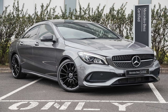 Certified Pre-Owned Mercedes-Benz CLA-Class C117 809MY CLA200 DCT Mulgrave, 2018 Mercedes-Benz CLA-Class C117 809MY CLA200 DCT Mountain Grey 7 Speed