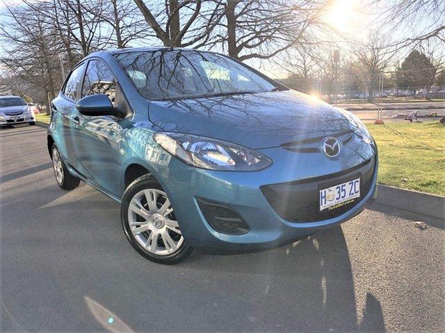 Used Mazda 2 DE10Y2 MY13 Neo Launceston, 2012 Mazda 2 DE10Y2 MY13 Neo Blue 5 Speed Manual Hatchback
