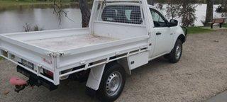 2011 Mitsubishi Triton MN MY11 GLX 4x2 White 5 Speed Manual Cab Chassis